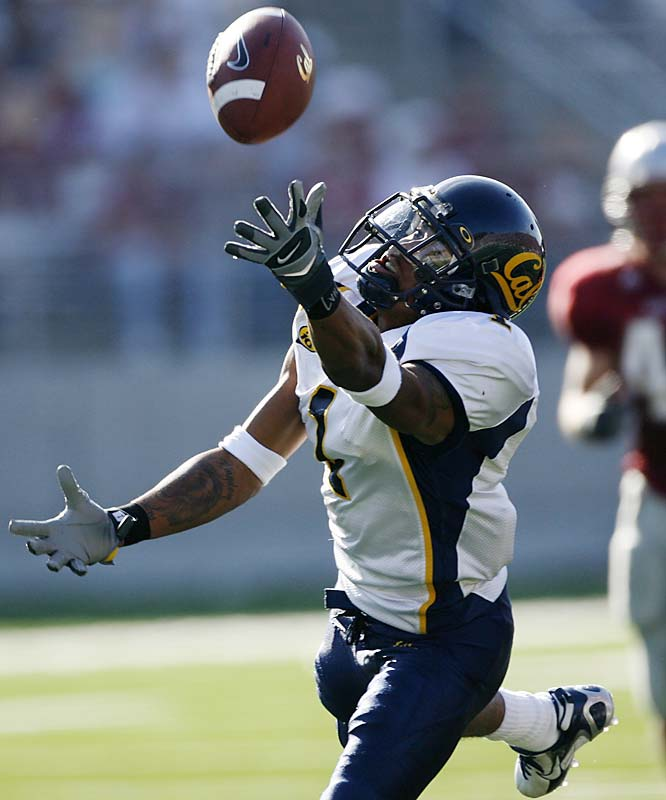 One of the most explosive all-around players in college football, Jackson headlines Cal's talented group of receivers. Jackson has been relatively quiet the last two weeks, but he had eight TD receptions during the first six games of the season. His exciting playing style has earned him comparisons to Rocket Ismail and Desmond Howard.