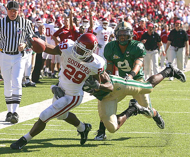 Third-string freshman tailback Chris Brown ran 24 times for 169 yards and a score to help the Sooners win their sixth in a row.