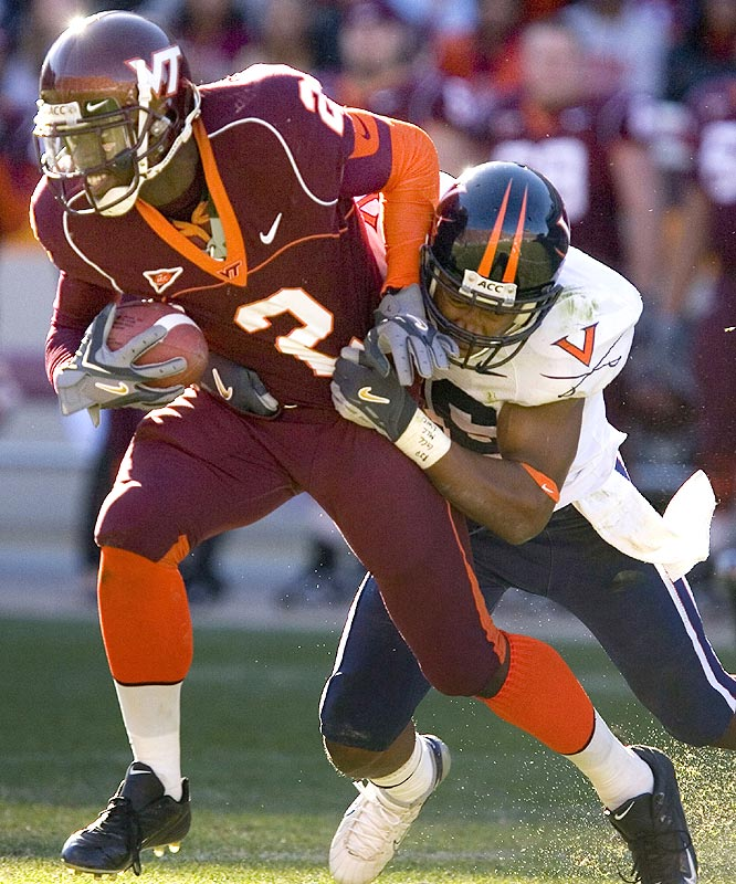 Josh Morgan and the Hokies won their sixth straight in denying the Cavaliers a shot at a bowl berth.
