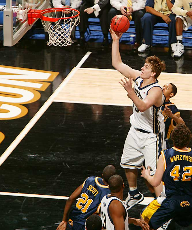 Gray, a 7-footer who declared for the draft and might have been a first-round pick, came back to Pitt to make a run at a Big East title. He averaged a double double (13.5 points, 10.5 boards) and is a glass-cleaner on both sides of the floor: 121 of his 345 rebounds came on the offensive end.