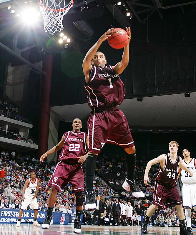 Law has helped to resurrect the Aggies' program, moving it from the Big 12 cellar to the Top 25. He serves as A&M's relentless floor leader -- and tops the team in points (16.1 per game) and assists (4.0). Law and junior big man Joseph Jones are the best inside-outside duo in the league.
