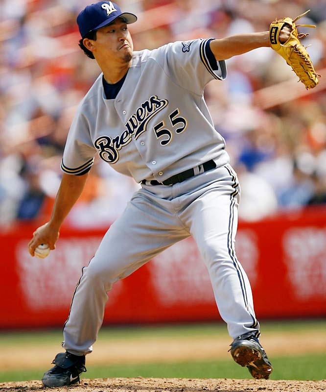 The Red Sox purchased the 22-year old Ohka from the Yokohama BayStars in November 1998. He pitched for five teams in his 10 major league seasons, going 51-68.