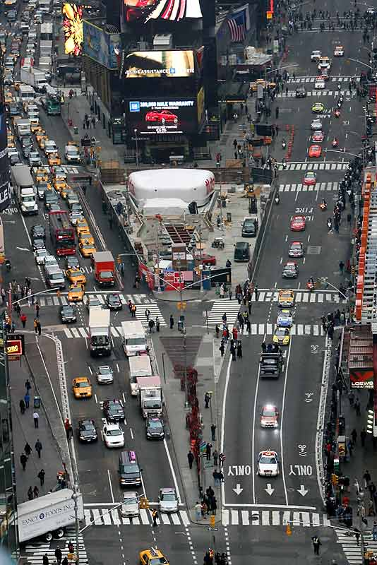 NASCAR's top 10 drivers, led by Nextel Cup champion Jimmie Johnson, are in the Big Apple this week to celebrate Champions Week. On Wednesday, they roared down 7th Avenue (on the right) through Times Square.