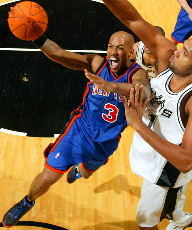 Marbury has been sleepwalking through games and isn't attacking the hoop or launching the jumpers that used to net him a lot more than the 10 points he's averaging this season. He is averaging just 4.5 assists in 34 minutes as well, ending a lot of games with a mopefest on the bench as opponents pull away.
