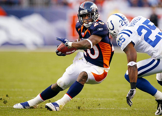 136 ... Broncos running back Mike Bell ran 15 times for 136 yards and two touchdowns, becoming the first running back in five years with 136 or more yards and two or more rushing TDs on 15 or fewer carries. The last to do it was Marshall Faulk of the Rams, who was 15-for-183 against the Panthers with two touchdowns on Nov. 11, 2001.
