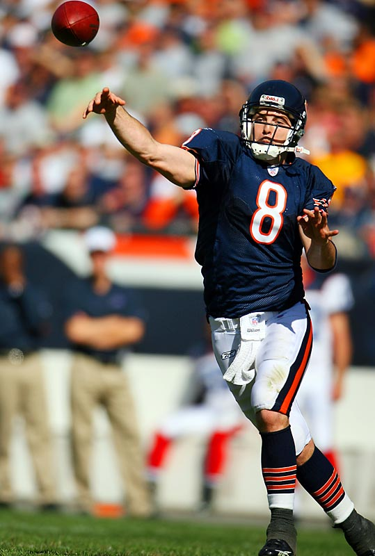 152... Rex Grossman and the Bears are 7-0 and have won those seven games by 152 points, making them the first NFL team in 64 years to outscore their first seven opponents by 152 or more points while going 7-0. The last team to outscore its first seven opponents by 152 or more points was the 1966 Cowboys, who had a 160-point advantage after seven games (266-106) but went 5-1-1.