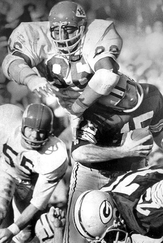 Buchanan was the first tall, athletic defensive tackle who could pressure the quarterback. Usually guys like Buchanan played on the outside, but Buchanan was strong enough to hold his own on the inside. Buchanan actually batted down 16 passes in 1967. Not long after Buchanan started dominating, the Steelers drafted Mean Joe Greene, who took the position to the next level.