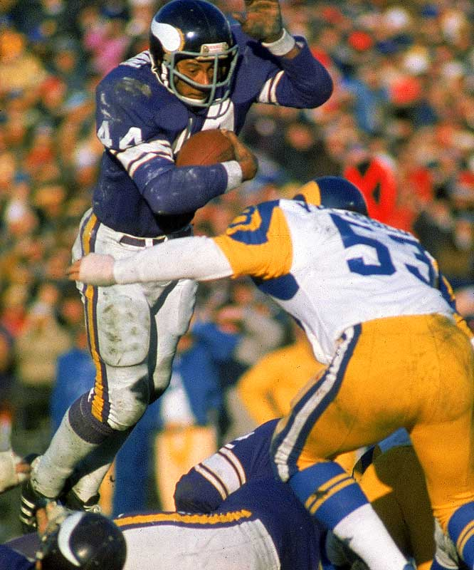 The '70s Vikings were like the Broncos of the '80s, the Bills of the '90s and to a lesser extent, the current Colts. They were typically tough to beat in the regular season and playoffs, but couldn't win a Super Bowl. In '73 -- a 14-game season --  they jumped out to a 9-0 record before losing at Atlanta in Week 10. Minnesota finished 12-2 and lost to the Dolphins in the Super Bowl.
