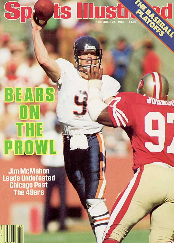 "The '85 Bears hold a special place in NFL history. Not only were they dominant, they also were one of the most charismatic teams of all time. With players such as Jim McMahon and William ""The Refrigerator"" Perry and the legendary Walter Payton, the Bears jumped out to a 12-0 record. But then Dan Marino's Dolphins, inspired by Miami's 1972 team, beat Chicago 38-24 on Monday Night Football. The Bears finished 15-1 and shuffled their way to a Super Bowl championship."