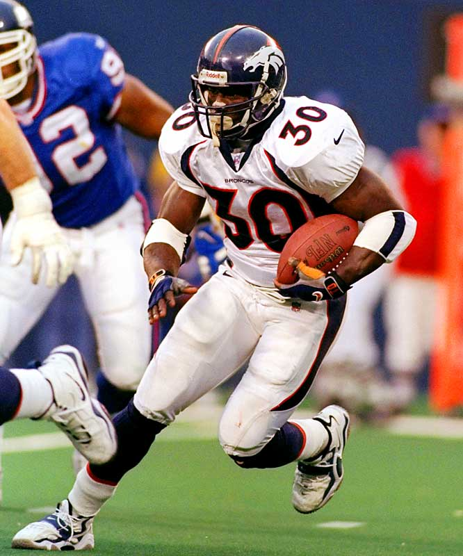 The Broncos had an unstoppable running game in 1998 and jumped out to a 13-0 record. Terrell Davis ran for 2,008 yards and 21 touchdowns, which made life much easier for quarterback John Elway in what would turn out to be his final season. The Broncos finally lost to the Giants in Week 15. Several players said losing was a relief and they went on to win their second straight Super Bowl that season.
