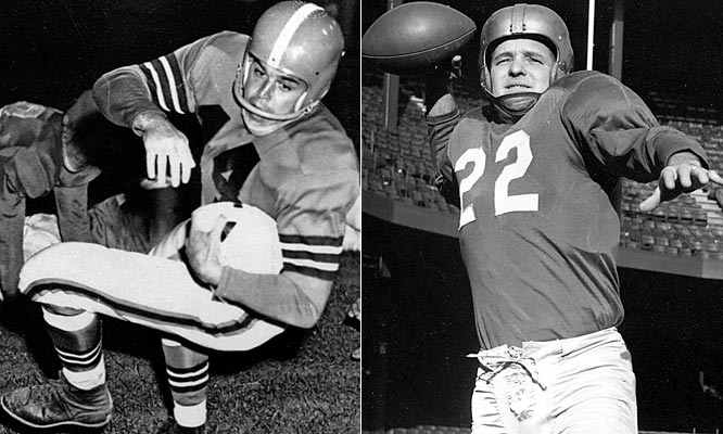 The Lions and Browns met in the NFL Championship Game three straight times from 1952 to 1954 and were for a time the premier rivalry in the league. Layne, the inspiring leader of the Lions, won the battle in 1952 and 1953. But Graham, the consummate champion, led the Browns to a 56-10 victory in 1954. Graham is considered the better passer, but Layne was a fierce competitor who excelled with the game on the line.