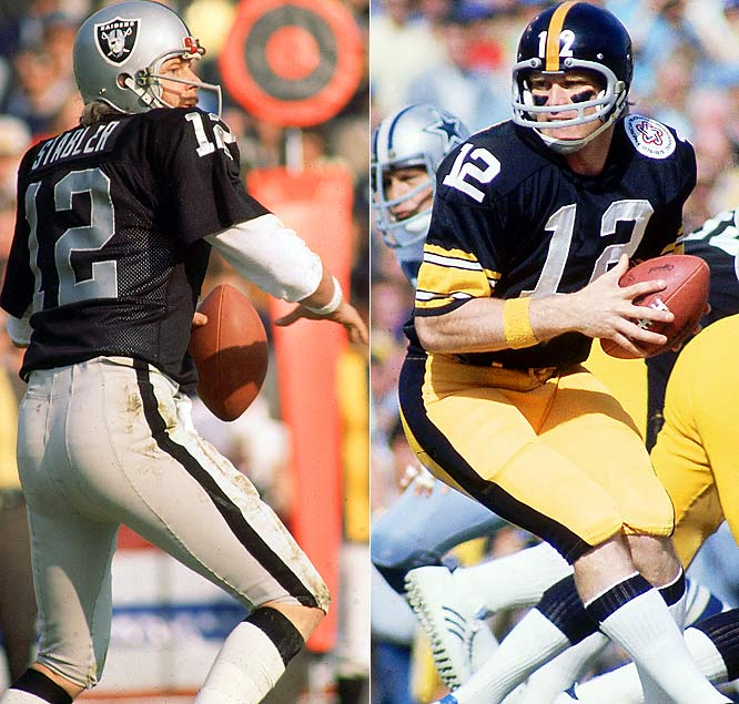 Stabler first made an impact as a pro when he replaced Daryle Lamonica in a 1972 AFC playoff game against Pittsburgh. Stabler threw the go-ahead touchdown, but the Steelers won in the final moment when a Terry Bradshaw pass landed in Franco Harris' hands -- the Immaculate Reception. The two teams met in the playoffs the next four years and combined to win three of the next four Super Bowls. The charismatic and talented quarterbacks were the faces of their franchises and made sure every meeting was interesting.