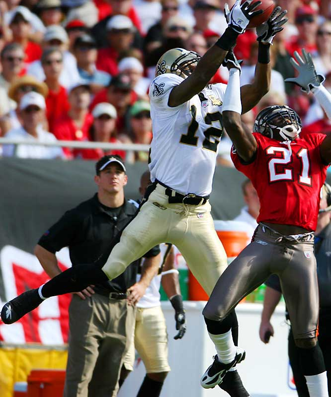 Last week: 1<br><br>The 252nd player chosen in last April's draft leads the NFL with 869 receiving yards. The Saints have barely missed veteran receiver Joe Horn, who is out with a groin injury, because Colston is playing like a bona fide No. 1 receiver.