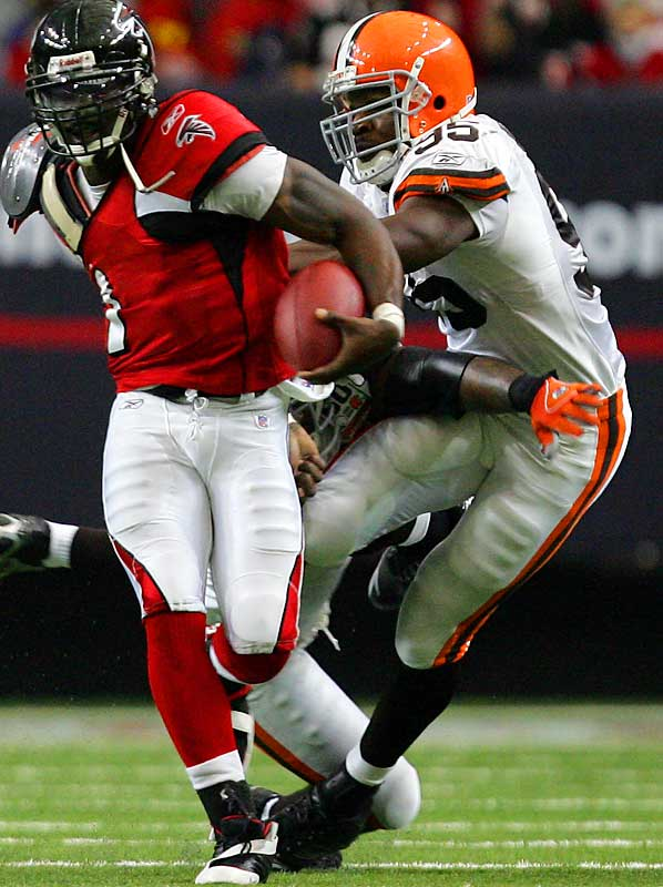 Last Week: Unranked<br><br>Wimbley has become a real factor on the Browns' improving defense. He got to Atlanta's Michael Vick last Sunday to increase his sack total to 5 1/2 and he forced a key fumble. He has great speed and power for a linebacker and continues to get better.