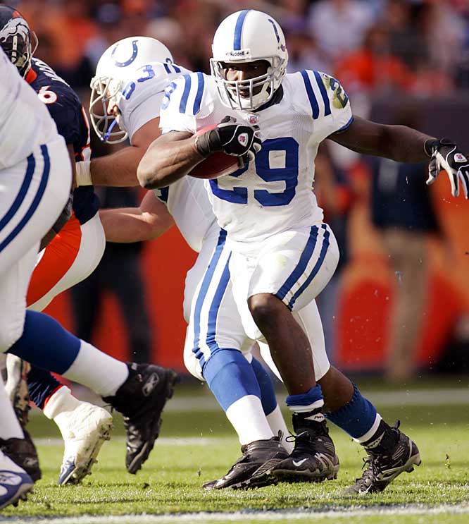 Last Week: unranked <br><br>The Colts running back leads all rookie rushers with 447 yards, and last week against the Broncos he showed he could be an effective target for Peyton Manning. Addai had five catches for 37 yards in the big win.