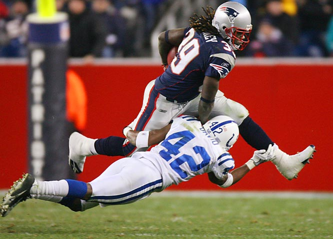 Last week: 2 <br><br>Maroney has been great as a running back, but he's been even better as a kick returner. His average dipped to 29.7 yards (tied for first in the NFL) after the loss to Indy, but that's only because the Colts didn't kick the ball very far. Maroney gave the Pats the ball in good position all game.