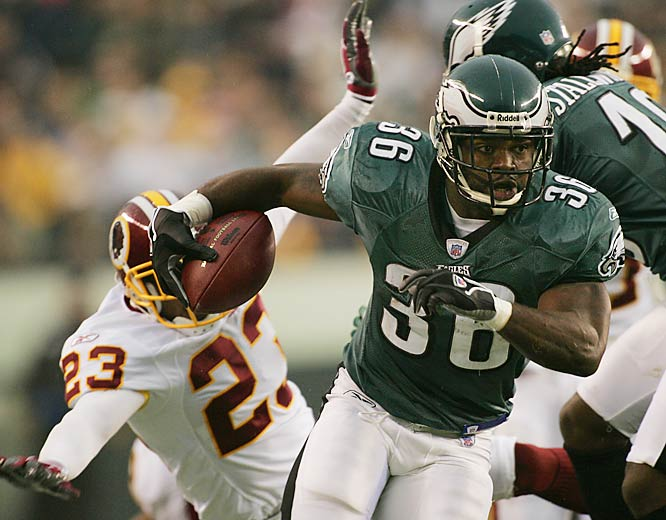 Philadelphia running back Brian Westbrook ran for 113 yards on 22 carries against Washington.  The Eagles ran the ball more than they passed for the first time this season.