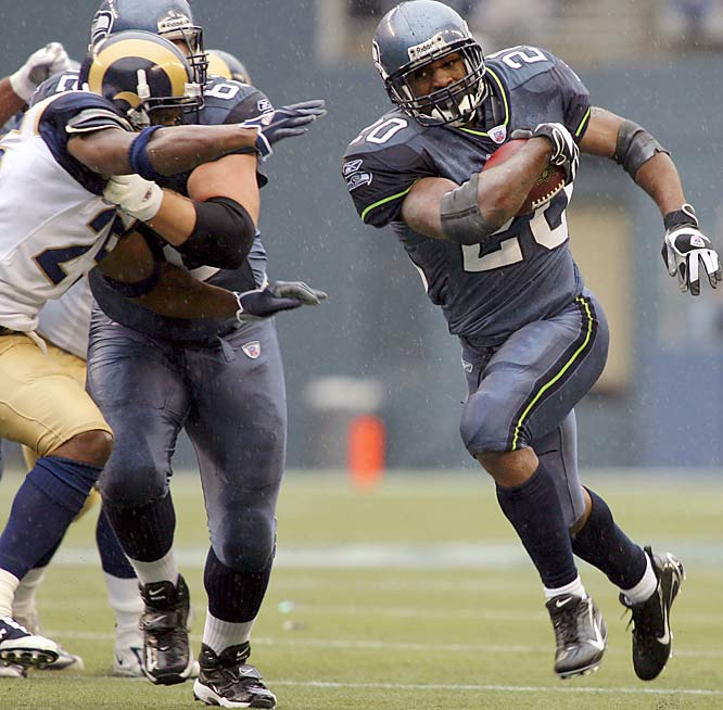 Seattle running back Maurice Morris rushed for over 100 yards for his second consecutive game. Morris had 124 yards on 21 carries against the Rams, starting in place of Shaun Alexander who has missed the last six games with a broken left foot.