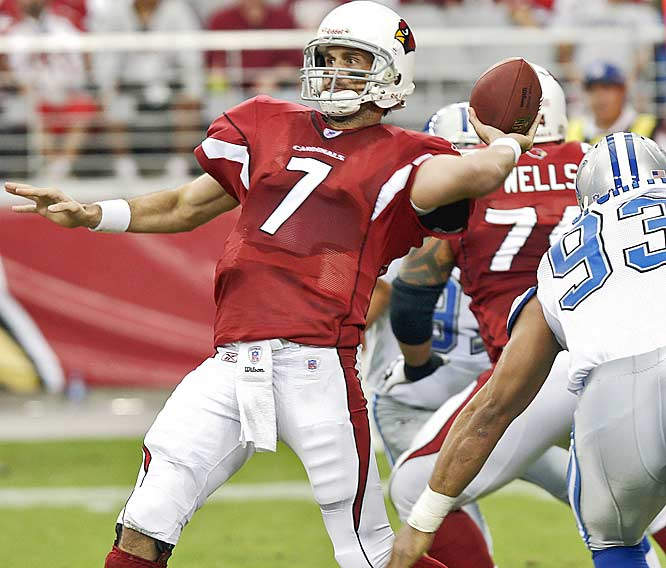 Arizona quarterback Matt Leinart threw and ran for a touchdown to get first NFL victory. The win also snapped an eight-game losing streak for the Cardinals, who hadn't won since their season opener against San Francisco.