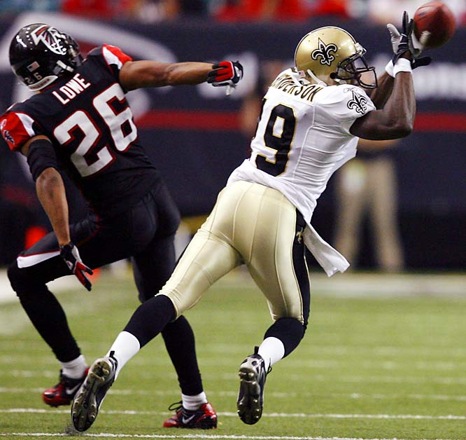 158 ... Devery Henderson of the Saints caught four passes for 158 yards against the Falcons, the most yards on four or fewer catches since Koren Robinson of the Seahawks was 3-for-166 against the Rams on Oct. 20, 2002.