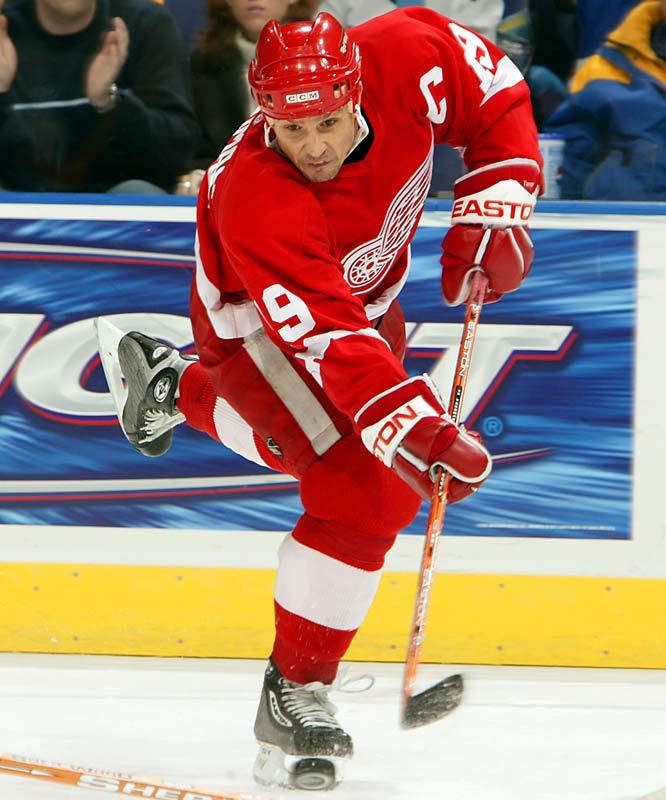 <b>NHL seasons:</b> 23 (1983-2006)<br><b>Team:</b> Red Wings