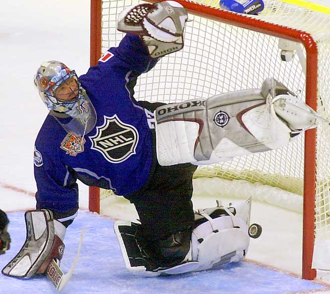 Along with his numerous awards, Roy was an 11-time All-Star. The games weren't always showcases of great goaltending. In 2002, Roy was nicked for two first-period goals by Teemu Selanne of the World Team, which beat North America, 8-5.