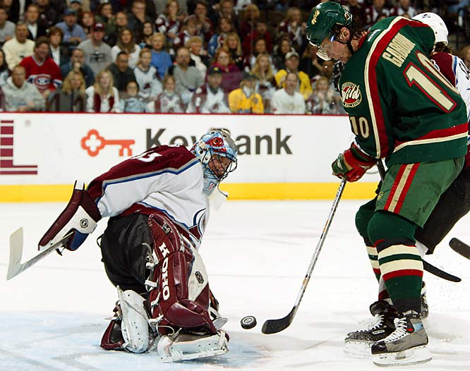 Roy's final regular-season appearance in net came on April 22, 2003 against the Minnesota Wild, a 3-2 loss in OT. That postseason, Roy's final quest for a Cup came up short as the Avs bowed out in the first round.