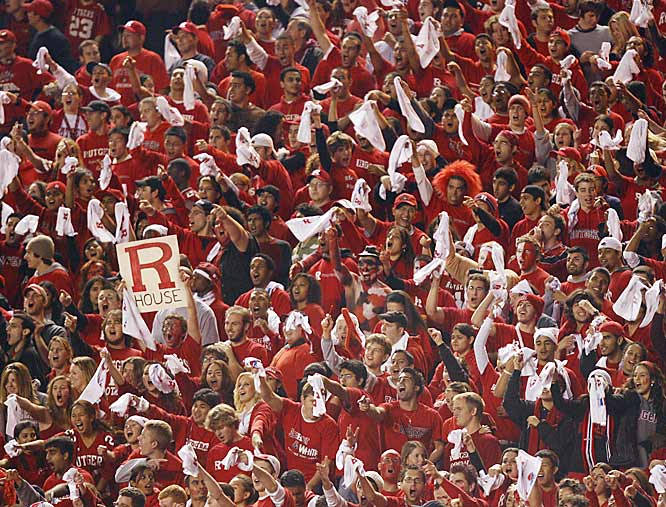 Rutgers fans basked in the spotlight and created an electric atmosphere in Thursday night's televised game.
