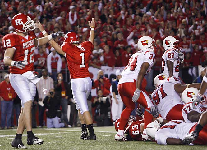 Ito's game-winning field goal with 13 seconds left knocked Louisville out of the national championship chase and opened the door for some one-loss teams.