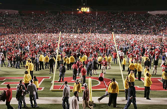 After the biggest victory in Rutgers history, it looked as if all 44,111 fans stormed the field.
