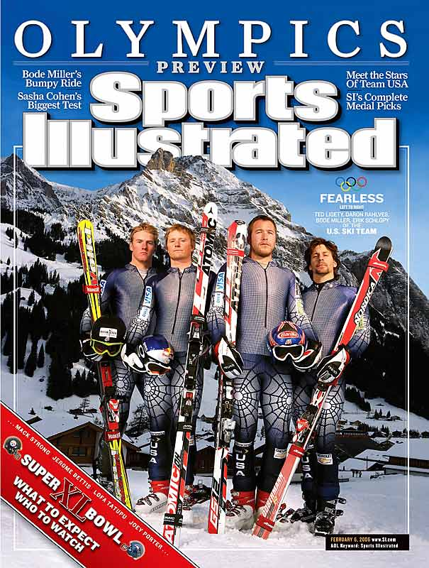 Not only did Ted Ligety, Daron Rahlves, Bode Miller and Erik Schlopy win just one gold medal (Ligety's first place finish in the combined) at the Olympics, but Miller's reputation took a downhill slide.
