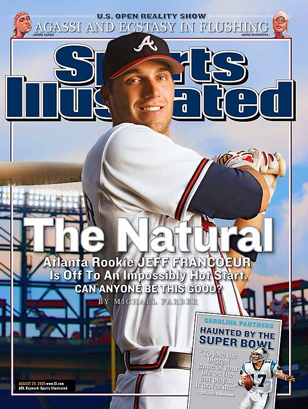Batting .362 with 10 homers and 30 RBIs in the 35 games he played in before appearing on the cover, Francoeur hit .236 with four homers and 15 RBI in his final 35 games, including only two dingers in the immediate 29 games after the cover exposure.