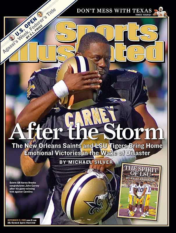 "Their win over Carolina in the opening week of the season made the Saints one of the feel-good stories in the wake of Hurricane Katrina, but they suffered the double indignity the following week of having to travel to the Meadowlands for a ""home game"" and losing 27-10 to the Giants."