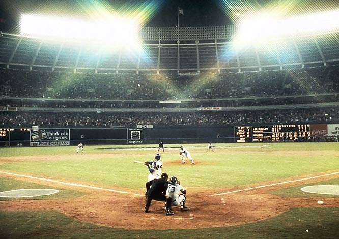 Hank Aaron's 715th home run, 1974.