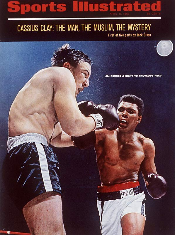 Ali vs. George Chuvalo in 1966.