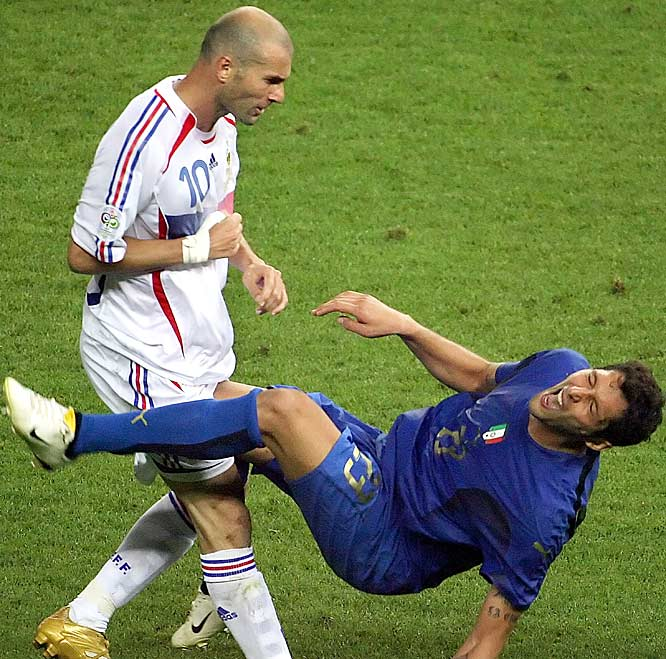France's Zidane lost his cool -- and, maybe, a lot more than that -- with the Head Butt Heard 'Round the World. In July's World Cup final, Zidane went hopelessly headstrong into Italy's Marco Materazzi, a mindless foul that earned Zidane an ejection in Italy's win and SI.com's ninth annual Turkey of the Year award.