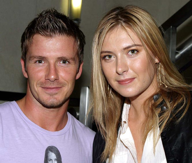 Should Posh be worried? Maria Sharapova met several Real Madrid players this week, including David Beckham, while she was in Madrid for the Sony Ericksoon Championship.