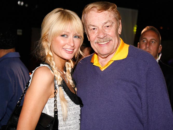 Lakers owner Jerry Buss had a banner week. His team started the season 2-0 and he received a star on the Hollywood Walk of Fame. Oh, and Paris Hilton helped Buss celebrate the honor.