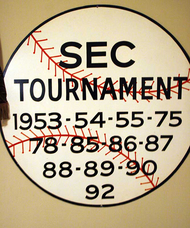 "This SEC Tournament poster was acquired ""to add to the ambiance of the room."""