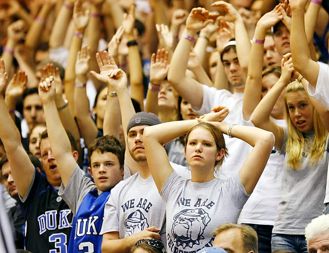 These Georgetown fans couldn't have been happy with the Hoyas' loss.