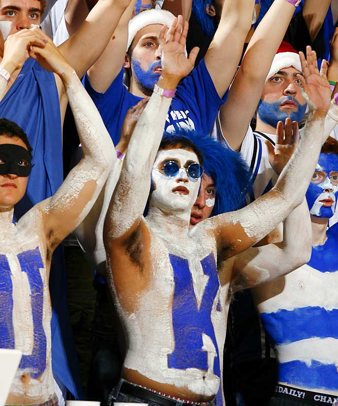The Cameron Crazies were out in full force during the Duke Blue Devils' 61-52 victory over Georgetown on Saturday.