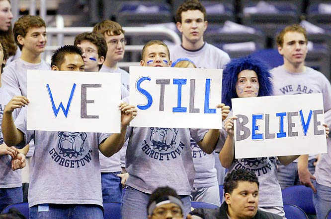 Georgetown fans kept the faith against James Madison last Tuesday after the Hoyas had dropped their previous two games.