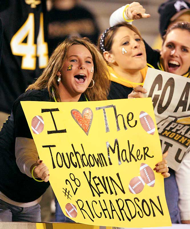 After running for 179 yards and four touchdowns, Kevin Richardson was loved by many Appalachian State students.