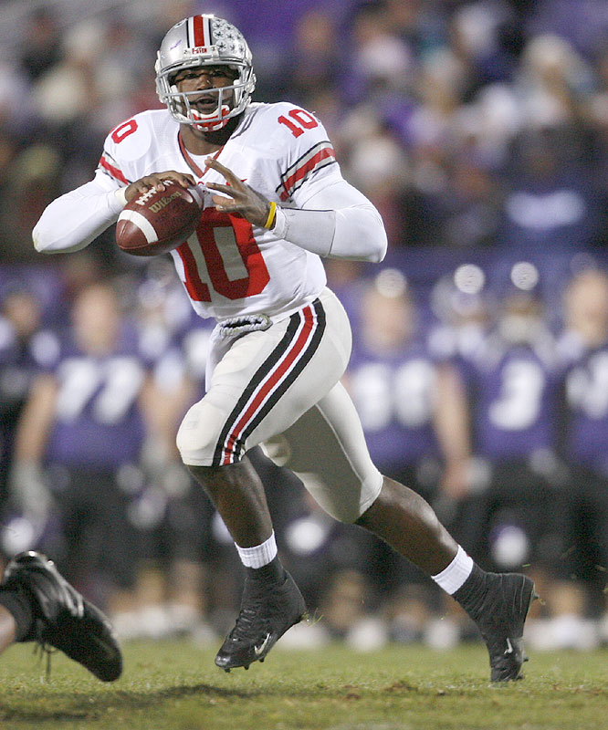 The senior saved his best for the biggest stages this year, throwing for 585 yards, six touchdowns and one interception in OSU's games versus Nos. 2 Texas and Michigan.