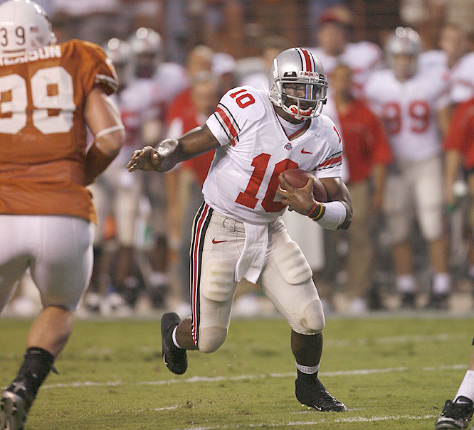 "Troy Smith, who came to Ohio State as an ""athlete,"" has gone 25-2 as the Buckeyes starter, including 12-0 this season."