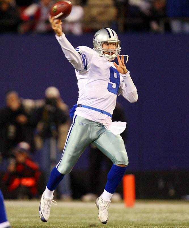 Romo joined the Cowboys as an undrafted free agent out of Eastern Illinois in 2003. He didn't take a snap before this season, but he outplayed Drew Bledsoe in the preseason and eventually took over as the starter in Week 8. The athletic Romo went 6-2 in his first eight starts for the Cowboys.