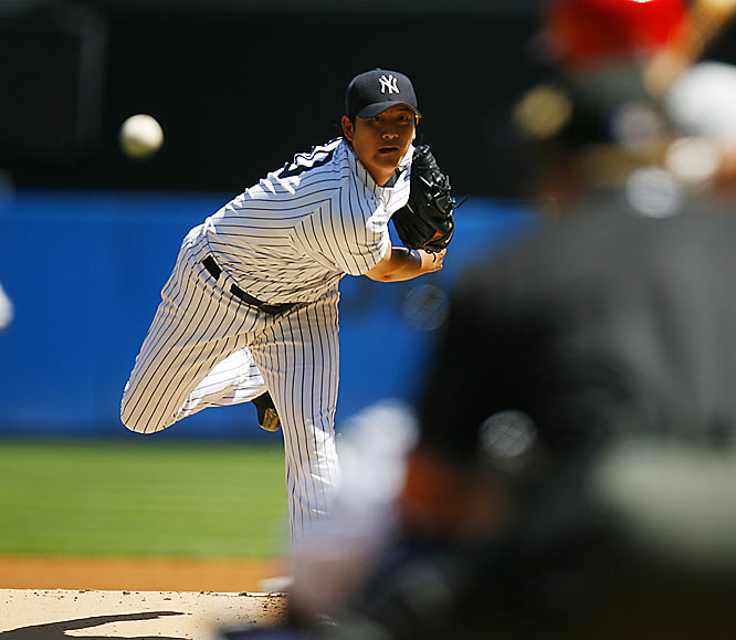 On a roster filled with high-priced talent, the Yankees' best starter turned out to be their cheapest. Wang followed up a solid rookie campaign by going 19-6 with a 3.63 ERA. Pretty good for about $350,000.