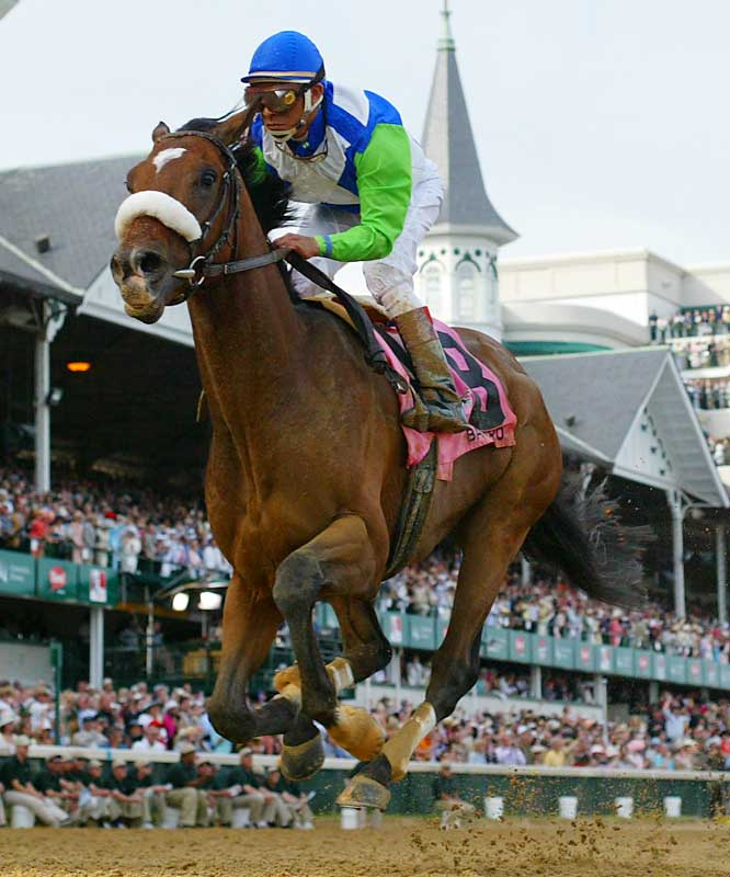 Trained by a three-time Olympian equestrian who survived a plane crash that took the lives of 111 people in 1989, Barbaro ran away with the Derby. Two weeks later, the colt would be fighting for his own life after shattering bones his right rear leg into more than 20 pieces during the opening strides of the Preakness.