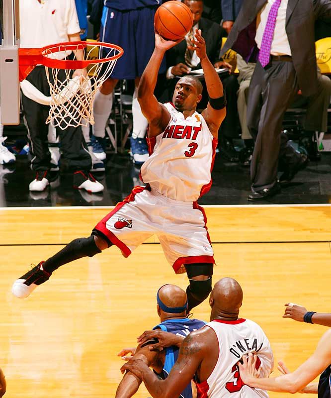 Led by Finals MVP Dwayne Wade, the Miami Heat became only the third team in NBA history to come back from a 0-2 deficit in the championship series and win the title. Wade averaged 34.6 points over the six games against Dallas, winning his first ring and helping Shaquille O'Neal to his fourth championship.