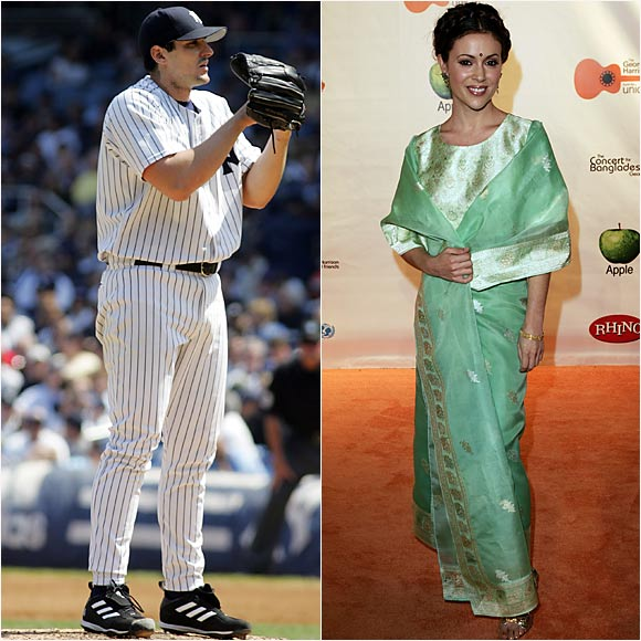 Carl Pavano and Alyssa Milano